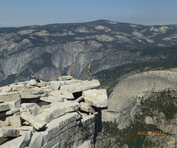 Soaking in the views atop Half Dome