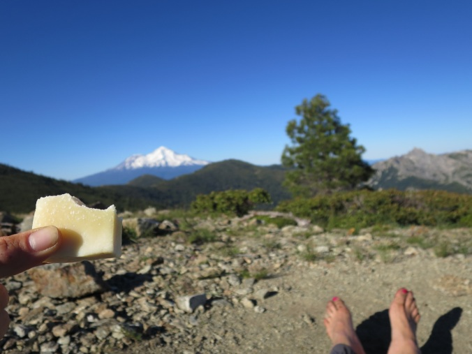 Cheese and views = happy thru hiker